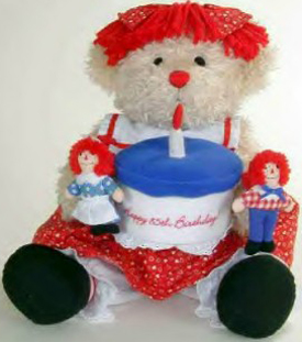Click here to go to our Limited Edition Raggedy Bear with Raggedy Ann and Andy Happy Birthday Plush Doll