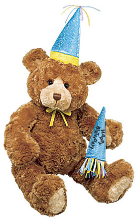 Click to go to our Happy Birthday Teddy Bears by Gund