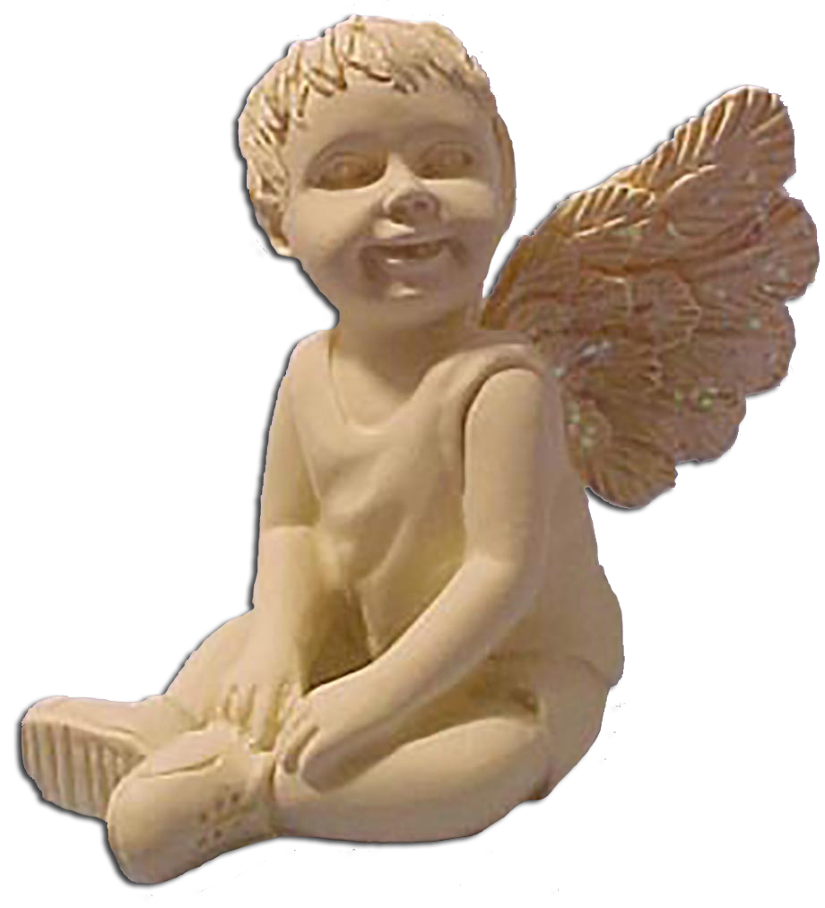 cuddly collectibles mountain of angels boy and angel figurines