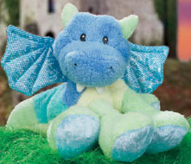 Cuddly Collectibles Gund Klumbsy Plush Colorful Dragon Stuffed Animals
