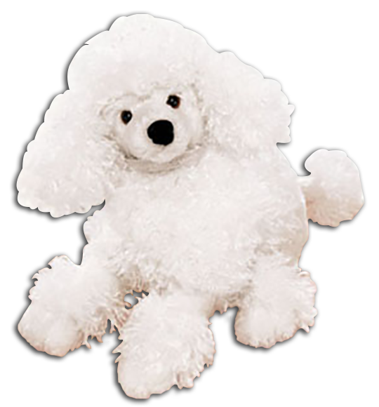 Cuddly Collectibles Plush Medium Sized Poodle Stuffed Animals