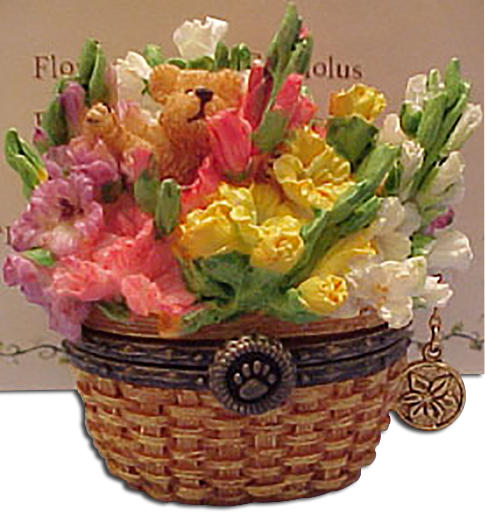 Cuddly collectibles boyds beary blossom birthday flower treasure boxes boyds beary blossom birthday month august gladiolas introduced spring 2005 and has been retired izmirmasajfo