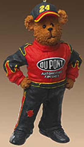 Cuddly Collectibles - Boyds NASCAR Jeff Gordon Christmas Ornaments
