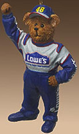 boyds bearstones nascar resin teddy bear ornament jimmie johnson 48 lowes introduced fall 2004