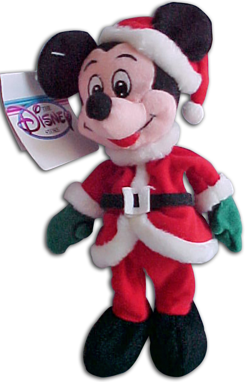 Christmas Toys Disney : Cuddly collectibles disney store plush christmas mickey