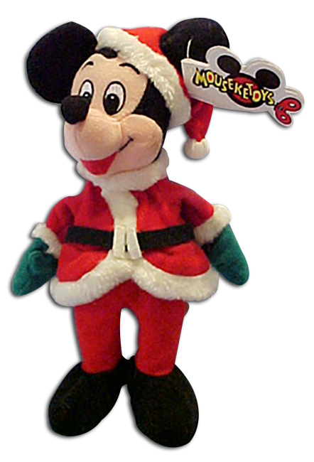 Cuddly Collectibles Disney Store Plush Christmas Mickey Mouse
