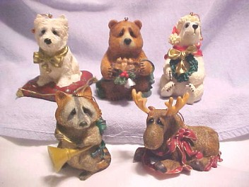cuddly collectibles - lou rankin christmas ornaments
