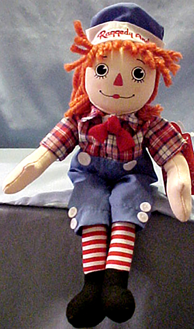 Cuddly Collectibles Large Raggedy Ann And Andy Rag Dolls