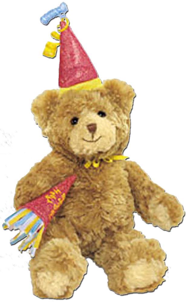 What better way to say Happy Birthday then a Gund Teddy Bear wearing Party clothes on these Birthday Teddy Bears.