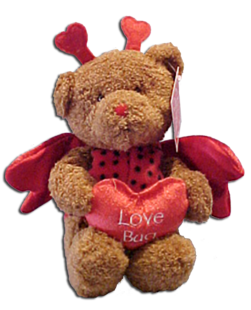Gund Valentine's Day Teddy Bears Dressed as Love Bugs