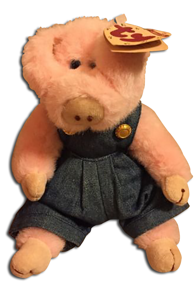 TY Attic Treasure Penelope Pig with Denim Overalls Stuffed Animal - introduced in 1995 and retired  sc 1 st  Cuddly Collectibles & Cuddly Collectibles - Ty Attic Treasures Farm Animals Cows Lambs and ...