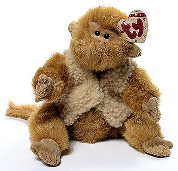 Cuddly collectibles ty attic treasures justin and morgan monkey ty attic treasure morgan monkey with sweater vest jointed stuffed animal introduced in 1994 and publicscrutiny Choice Image
