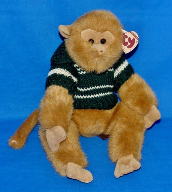 Cuddly collectibles ty attic treasures justin and morgan monkey ty attic treasure justin monkey jointed stuffed animal introduced in 1996 and retired in the publicscrutiny Choice Image