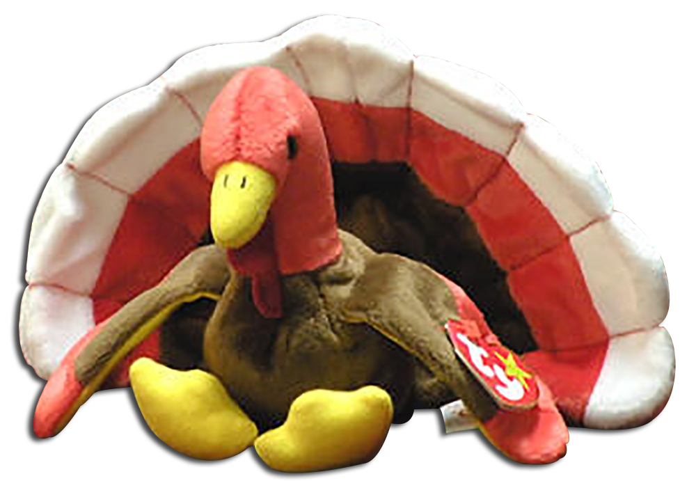 dfc95b38525 TY Beanie Babies Gobbles the Turkey Stuffed Animal - DOB 11 27 96 -