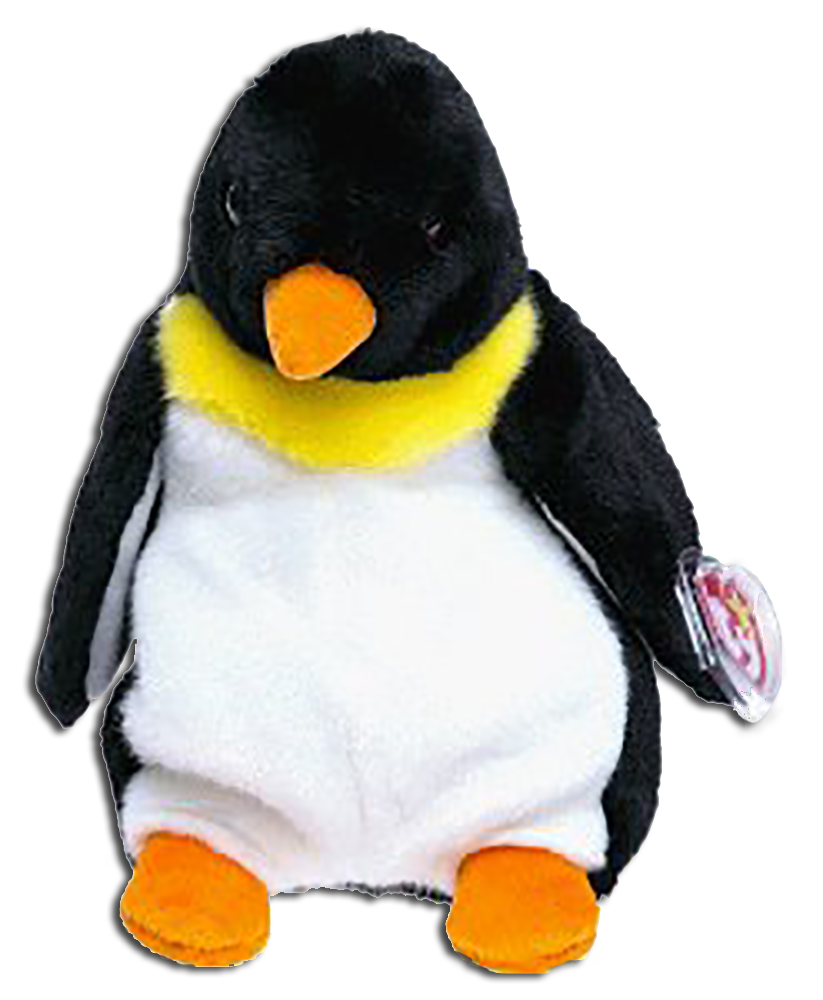 7bbd2d719e0 TY Beanie Babies Waddle the Penguin Stuffed Animal - DOB 12 19 95 -