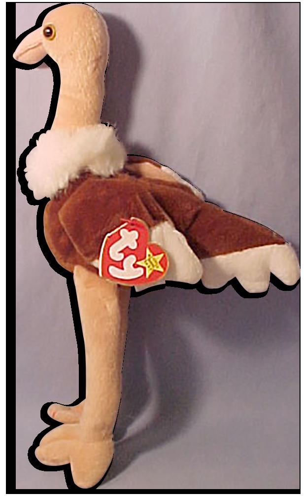 TY Beanie Babies Stretch the Ostrich Stuffed Animal - DOB 9 21 97 - cb5668269516