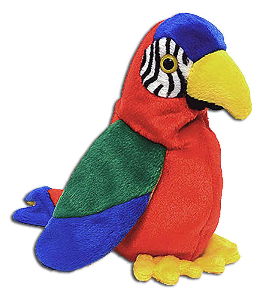 TY Beanie Babies Jabber the Parrot Stuffed Animal - DOB 10 10 97 - 02fb977119bd