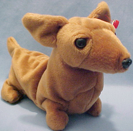eca0fba7f43 TY Beanie Babies Weenie the Dachshund Stuffed Animal - Introduced 1 7 96  retired