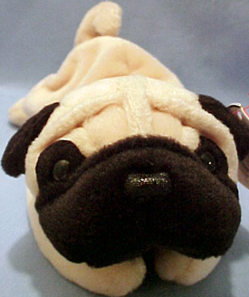 TY Beanie Babies Pugsly the Pug Stuffed Animal - Introduced 5 11 97 retired 61bd4bbb338