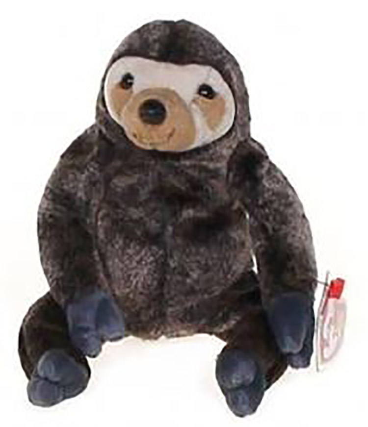 af4a17a2c47 TY Beanie Babies Slowpoke the Sloth Stuffed Animal - Introduced 8 31 99  retired