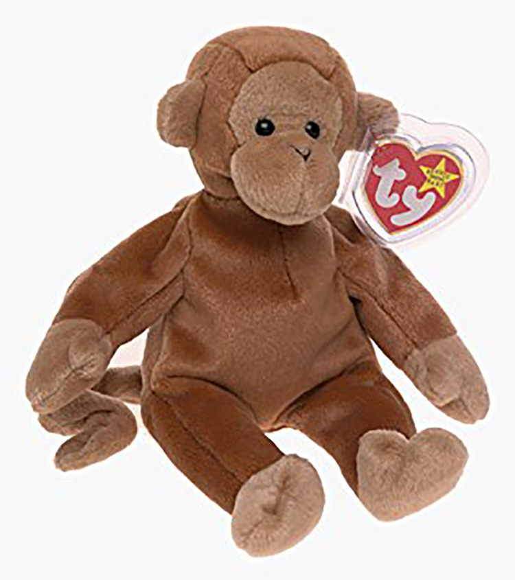 TY Beanie Babies Monkyes, Gorillas