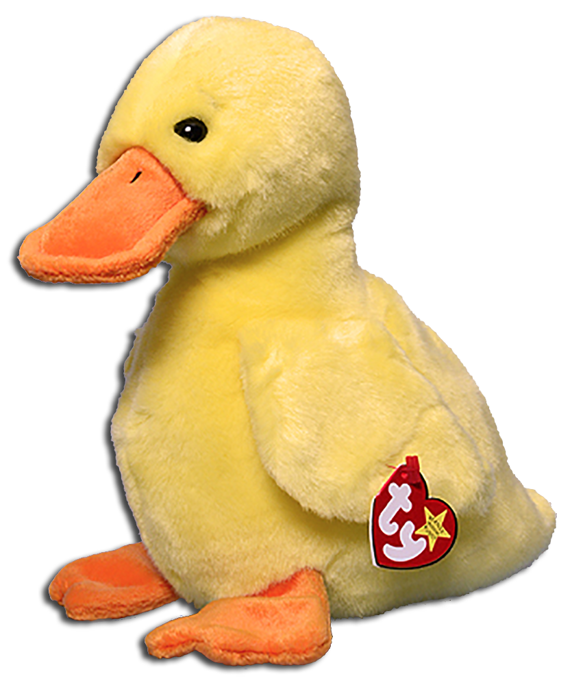 TY Beanie Buddies Quackers the Duck Stuffed Animal with Wings - introduced  9 30  0c5806d3291