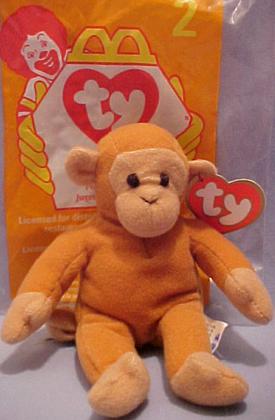 Cuddly Collectibles - McDonalds Teenie Beanie Babies Monkeys 8fd2b08a075