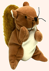 44bb919e2b0 McDonalds TY Teenie Beanie Babies Nuts the Squirrel Stuffed Animal - from  the 1999 series of