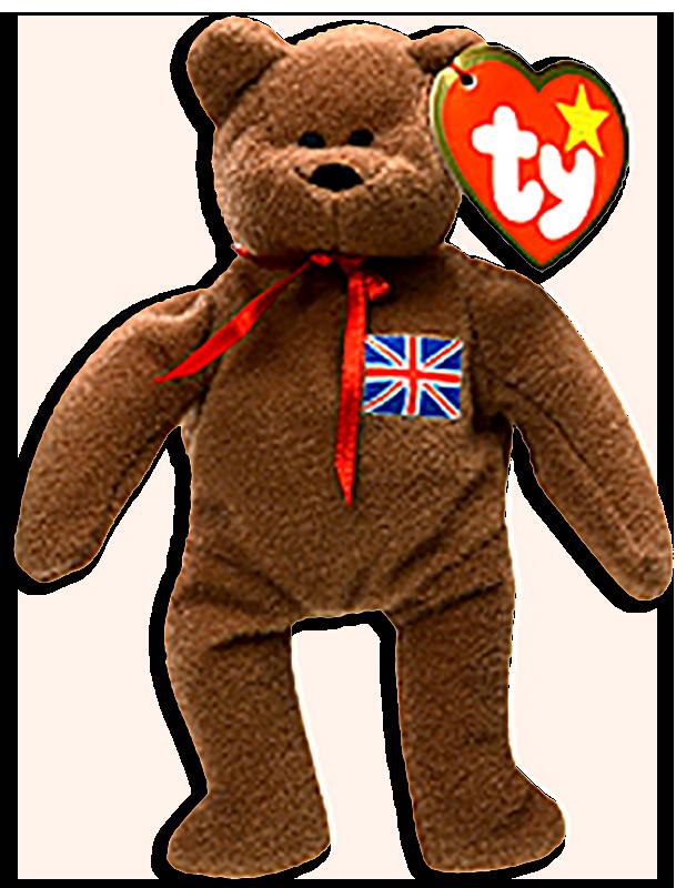 McDonalds  TY Teenie Beanie Babies International Teddy Bear Britannia -  from the 1999 series of b8a5d1e9fce