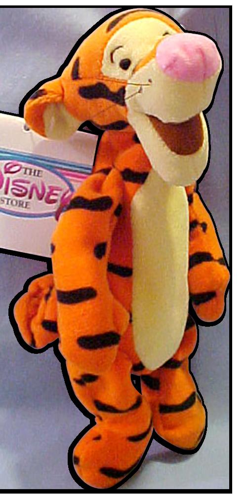 Disney Plush Bean Bag Pooh S Tigger With Curly Tail