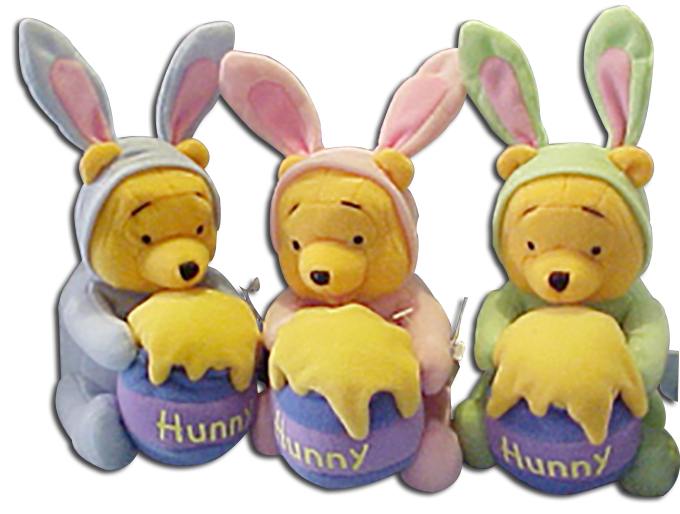 Cuddly collectibles unique easter gifts and easter basket fillers easter winnie the pooh stuffed toys negle Choice Image