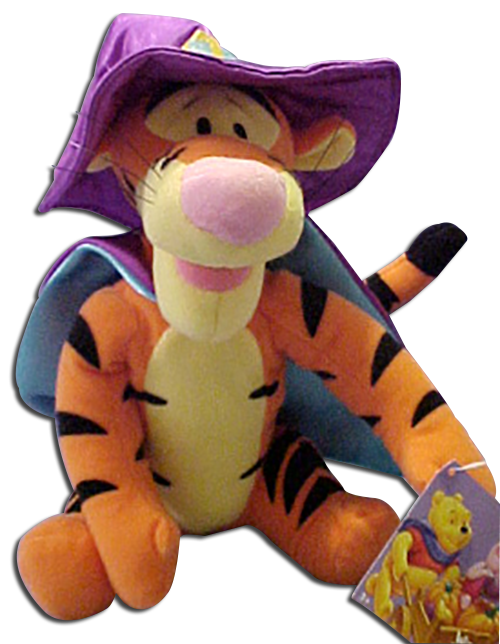 DISNEY APPLAUSE Tigger Dressed As Witch with Piglet on a Broom